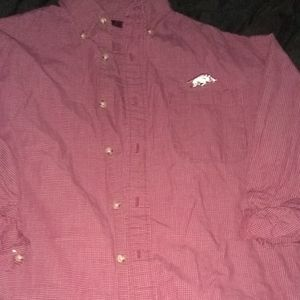 Other - razorback button up shirt